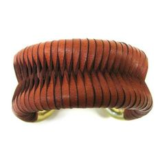 Giles & Brother 'Cortina' Leather Wrapped Cuff Bangle