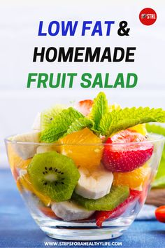 One mouthful of this fresh low fat fruit salad recipe with mint and you can almost feel the sunshine! Refreshing and perfect for a hot summer day. Super easy to prepare and a delight on summer times! Full of nutrients & vitamins ideal for kids & families parties. Great healthy snack or take away to the office,it can be prepare in advance and kept in the fridge overnight.Fruit salad healthy,how to make fruit salad, salad recipes with fruit,healthy fruit salads,fruits salad recipe