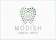 Logo for sale by melanie D - Logomood.com Clean and modern dental logo design of a molar tooth created with different sized coloured circles that create the impression of the tooth shape. Contained in the center of the molar tooth design is a letter monogram, which can be changed to match your company/business name.