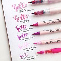 A super pretty example of the Kuretake brush pens