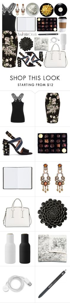 """""""Untitled #241"""" by fjannah on Polyvore featuring River Island, Marni, Rococo Chocolates, Harrods, French Connection, DAY Birger et Mikkelsen, Menu, Acne Studios and FOSSIL"""