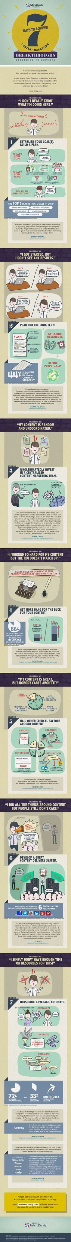 7 Ways To Achieve #ContentMarketing Breakthroughs, According To Experts #Infographic