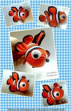 Finding Nemo, Nemo, Nemo Amigurumi Pattern by https://www.facebook.com/AmigurumidiFaby