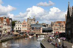 Muelle medieval de Gante, Bélgica
