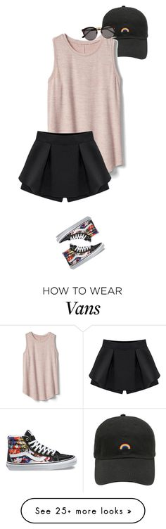 """""""Untitled #1006"""" by victoria-victrairo on Polyvore featuring Gap, Illesteva and Vans"""