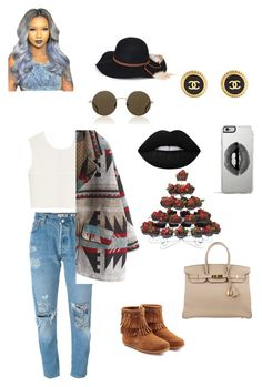 """"" by qveennnnnn on Polyvore featuring Levi's, McQ by Alexander McQueen, Minnetonka, Hermès, Lipsy, Steve Madden, Chanel, Lime Crime and Illesteva"