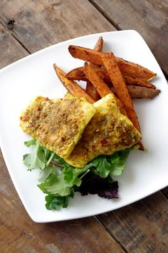 Lime Steamed Curry Cod & Chili Garlic Baked Sweet Potato Fries ...