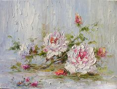 love blossom by marchella piery. i love the thick palette knife strokes, and all the texture in her paintings.