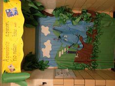 Horton Hears a Who classroom door decor.
