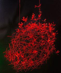 "Ingo Maurer and Graham Owen collaboration ""Dragon Attack"" Element Lighting, Lighting Design, Art Furniture, Turn Up The Lights, Ingo Maurer, Light Installation, Lamp Light, Decoration, Modern Design"