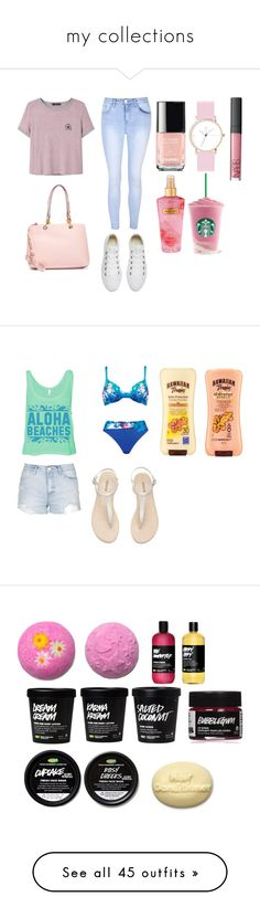 """""""my collections"""" by soph-133 ❤ liked on Polyvore featuring Glamorous, Converse, MANGO, New York & Company, Victoria's Secret, Hawaiian Tropic, Naturana, Topshop, H&M and Alexander Wang"""
