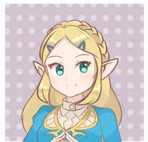 Princess Zelda Botw Short Hair By Chocomiru02 On Deviantart Zelda Art Princess Zelda Legend Of Zelda