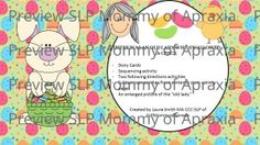 FREE!!  There was an Old Lady Who Swallowed a Chick Speech/Language Activity Pack from SLPMommyofApraxia