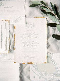romantic, burned edges, calligraphy, monogram, grey and white, invitation suite, paper goods | Photography: Thcablookfotolab