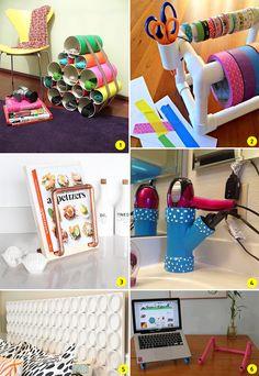 DIY: 24 ideias para decorar e organizar a casa usando canos de PVC