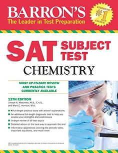 Barron'S Sat Subject Test Chemistry Edition PDF - Education Used Books, Books To Read, Improve Reading Comprehension, Literary Elements, Test Preparation, Reading Skills, Textbook, Nonfiction, Chemistry