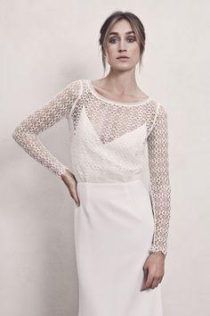 IDUNN simple, scandi-cool wedding dress by Maria Fekih