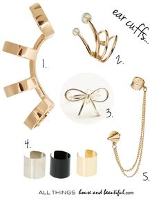 Ear cuffs - All things House and Beautiful