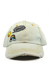 Tag Twenty Two Happy Patched Denim Dad Hat