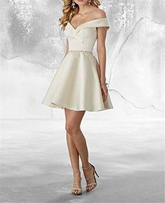HelloLadyBridal Womens Off The Shoulder Homecoming Dresses Beaded Satin Prom Dresses Cocktail Gown Silver 6 *** You can obtain added information at the image link. (This is an affiliate link). Formal Prom, Formal Evening Dresses, Hoco Dresses, Homecoming Dresses, Beaded Prom Dress, Cocktail Gowns, Wedding Party Dresses, Special Occasion Dresses, Satin