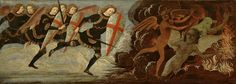 St. Michael and the Angels at War with the Devil Painting