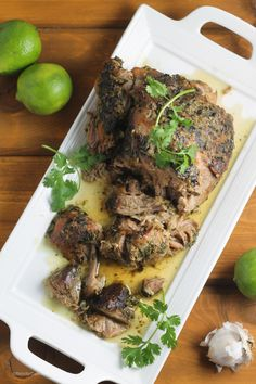 Whole30 Slow Cooker Cilantro Lime Pork Shoulder Recipe {Paleo, Whole30, Gluten-Free, Clean Eating}