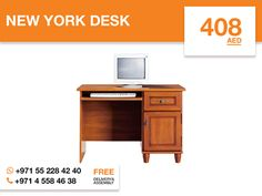 This well designed New York desk offers two accessory drawers with metal pulls to keep documents and clutter organized without sacrificing storage space and a keyboard shelf with metal slides. This modern, space-saving design has a large work surface to meet Your working needs without compromising style. This desk with Locarno apple finish fits perfectly in any space. More details: http://gtfshop.com/newyork-desk