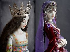 Wow! These porcelain dolls are really beauties. I wish I could do something like this.