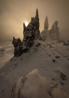 Old Man of Storr during sunrise, Isle of Skye, Scotland