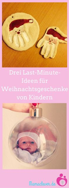 Hier gibt's drei Bastelideen, mit denen ihr ganz kurzfristig mit euren Kindern… Here are three craft ideas, with which you can conjure up a present for your grandmother and grandfather at Christmas with your children at short notice. Hobbies For Kids, Hobbies And Crafts, Diy Crafts To Sell, Diy Crafts For Kids, Fun Crafts, Gifts For Kids, Craft Ideas, Baby's First Ornament, Wallpaper World