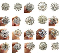 20pc  Mixture of Crystal Rhinestone Buttons  CS2  by olifstudio, $43.99