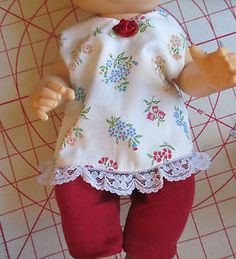 """13"""" Baby Alive Doll Outfit Top w Matching Stretch Leggings Handmade 12 13"""" Doll 