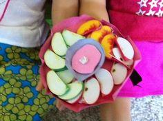 Make AG doll fruit slices food from felt