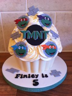 Teenage Mutant Ninja Turtle Giant Cupcake