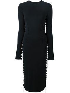 frill detail knit dress