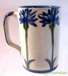 Louisville Stoneware Company Mug Cornflower 4.75 inches Kentucky Blue Flowers #LouisvilleStoneware