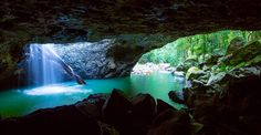 Natural Bridge Springbrook National Park Queensland Australia [1500  778] -Evangleon1993