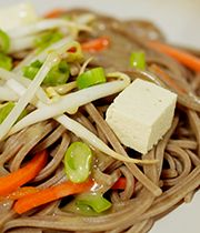 Oodles of noodles in a healthy salad.