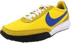 detailed look ade24 5df1d Nike Men s Roshe Waffle Racer Nm True Yellow   Hyper Cobalt-Lucky Green-White  Ankle-High Running Shoe - 8M