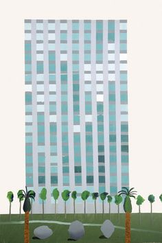 """Savings and Loan Building"" by David Hockney"