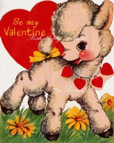 Larry The Lamb Be My Valentine Greetings Card Printable Image - Search for products similar to Larry The Lamb Be My Valentine Greetings Card Printable Image - Valentines Greetings, Valentine Greeting Cards, Vintage Valentine Cards, Vintage Greeting Cards, Vintage Postcards, Vintage Images, Valentines Design, Valentines Art, Be My Valentine