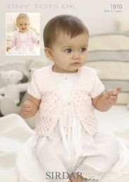 Sirdar Snuggly Tiny Tots DK Baby Girls Cardigan1910