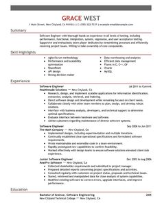 Software On Resume 10 Best Sample Resume Templates Images On Pinterest  Gym Career .