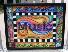 Sign for outside door for my music teacher