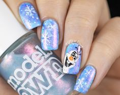 Frozen inspired nail art by Copycat Claws