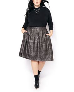 Shop Penningtons for stylish plus size clothes & trendy fashions: sizes 14 to 32 in tops, bottoms, jeans, lingerie, activewear & wide width shoes & boots. Plus Size Skirts, Plus Size Outfits, Trendy Outfits, Lookbook Mode, Fashion Lookbook, Trendy Plus Size Fashion, Stylish Plus, Midi Skirt, Sequin Skirt