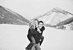 playing in the snow- would make a cute engagement pic!