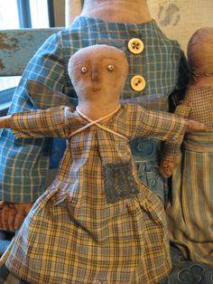 handmade angel in old blue dress www.picturetrail.com/schneemanfolkart