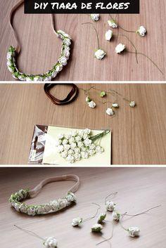DIY Como fazer tiara de flores para o Carnaval #diy #carnaval #flores   http://www.semmoldura.com.br/2015/02/como-fazer-tiara-de-flores-para-o.html