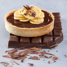 Tartelette chocolat-banane - Béghin Say Mini Desserts, No Bake Desserts, Banana Tart Recipe, Tart Recipes, Cooking Recipes, Confort Food, Bakery, Cheesecake, Sweets